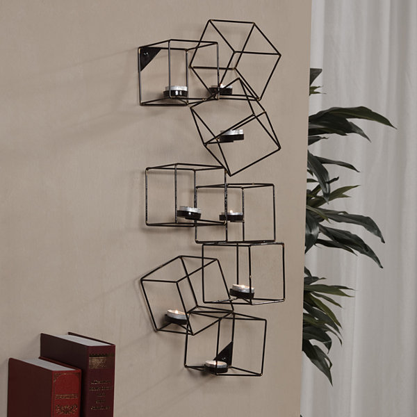 Danya B. Architectural Cubic Wall Tea Light Holder