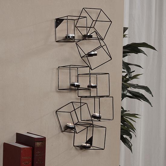 Danya B. Architectural Cubic Wall Tea Light Holder