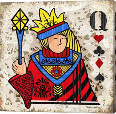 Metaverse Art Queen of Hearts Gallery Wrapped Canvas Wall Art