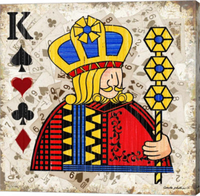 Metaverse Art King of Spades Gallery Wrapped Canvas Wall Art