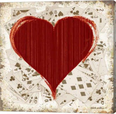 Metaverse Art Hearts Gallery Wrapped Canvas Wall Art