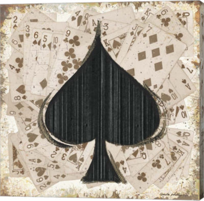 Metaverse Art Spades Gallery Wrapped Canvas Wall Art