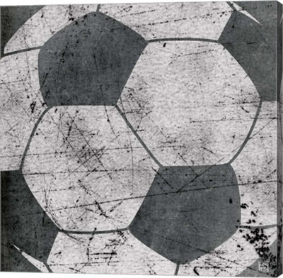 Metaverse Art Soccer Gallery Wrapped Canvas Wall Art
