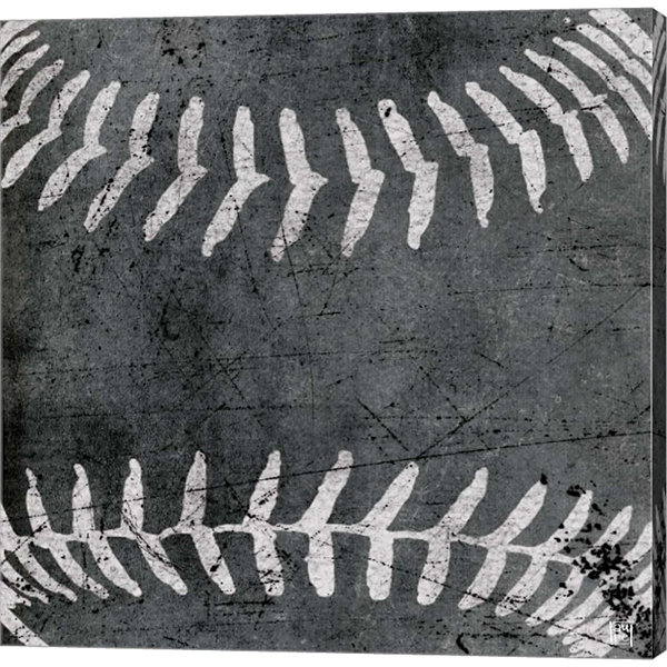 Metaverse Art Baseball Gallery Wrapped Canvas Wall Art