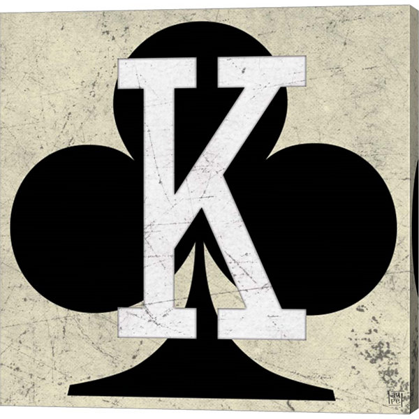 Metaverse Art King of Clubs Antique Gallery Wrapped Canvas Wall Art