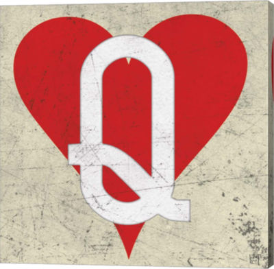 Metaverse Art Queen of Hearts Antique Gallery Wrapped Canvas Wall Art
