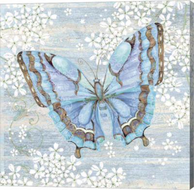 Metaverse Art Blue Butterfly Gallery Wrapped Canvas Wall Art