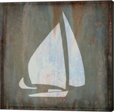 Metaverse Art Sailboat Gallery Wrapped Canvas Wal Art