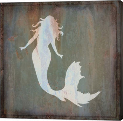 Metaverse Art Mermaid Gallery Wrapped Canvas Wall Art