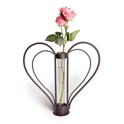 Danya B. Sweetheart Iron Heart-shaped Bud Vase