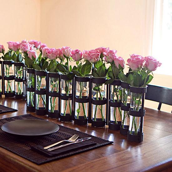 Danya B.  Six Wide Tube Hinged Vases