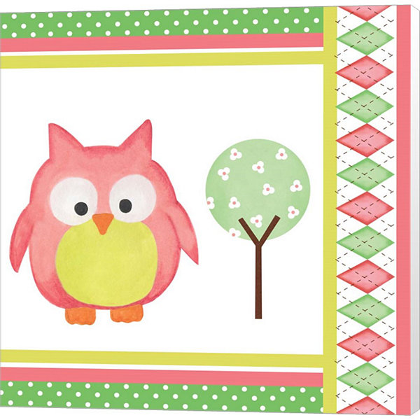 Metaverse Art Hoot Pink VI Museum Wrapped Canvas Wall Art
