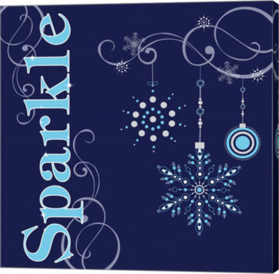 Metaverse Art Winter Sparkle I Gallery Wrapped Canvas Wall Art