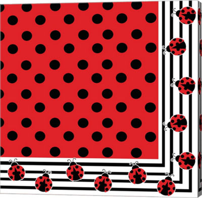 Metaverse Art Ladybug III Gallery Wrapped Canvas Wall Art