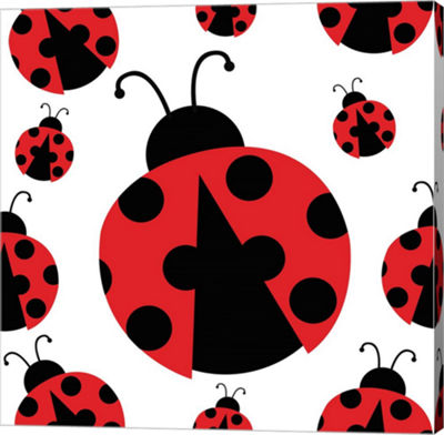 Metaverse Art Ladybug II Gallery Wrapped Canvas Wall Art