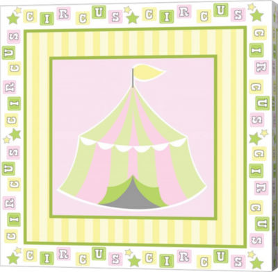 Metaverse Art Baby Big Top X Pink Gallery Wrapped Canvas Wall Art