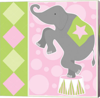 Metaverse Art Baby Big Top IX Pink Gallery Wrapped Canvas Wall Art