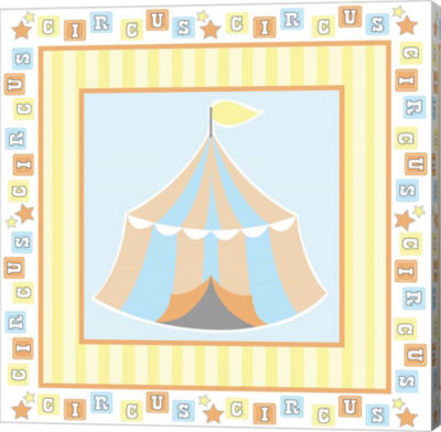 Metaverse Art Baby Big Top X Blue Gallery Wrapped Canvas Wall Art
