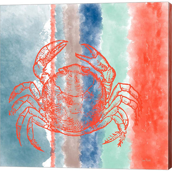 Metaverse Art Crab Stripes Gallery Wrapped Canvas Wall Art