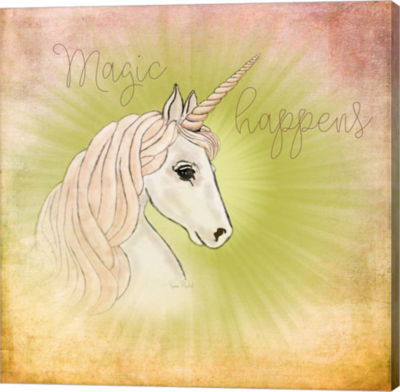 Metaverse Art Magic Happens Gallery Wrapped Canvas Wall Art
