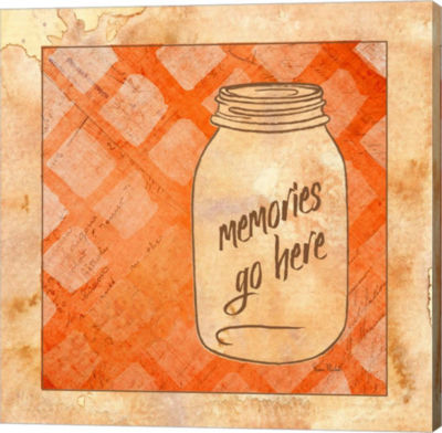 Metaverse Art Memories Go Here Gallery Wrapped Canvas Wall Art