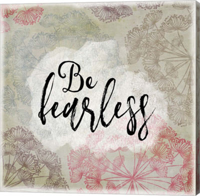 Metaverse Art Be Fearless Gallery Wrapped Canvas Wall Art