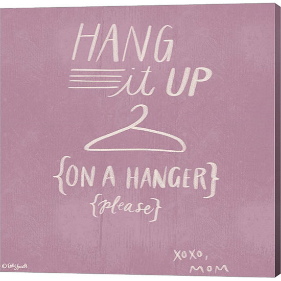 Metaverse Art Hang It Up Gallery Wrapped Canvas Wall Art