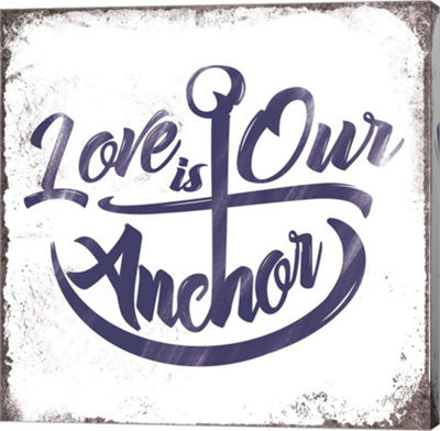 Metaverse Art Love is Our Anchor Gallery Wrapped Canvas Wall Art