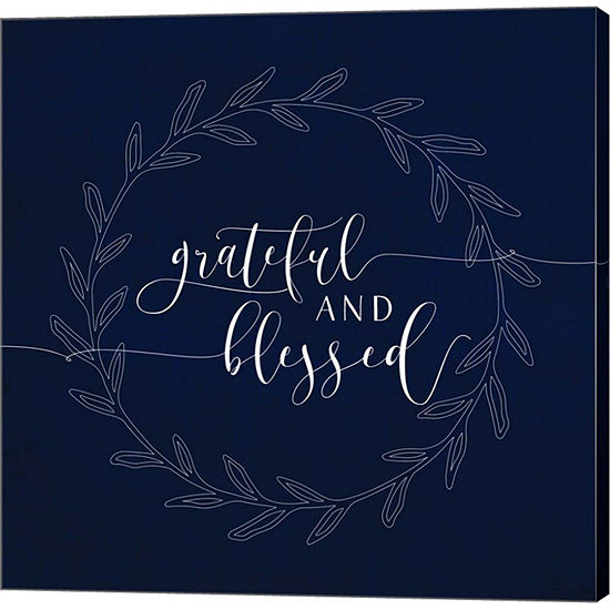 Metaverse Art Grateful and Blessed Gallery WrappedCanvas Wall Art