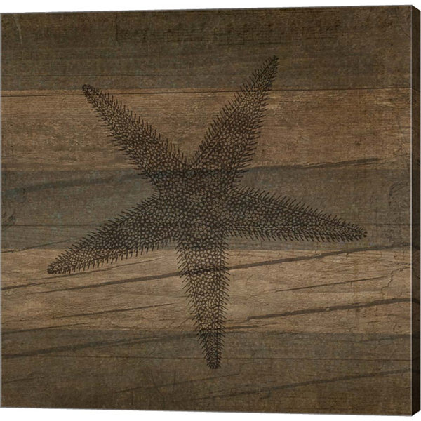 Metaverse Art Rustic Starfish Gallery Wrapped Canvas Wall Art