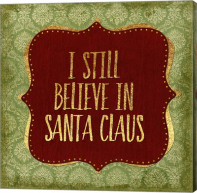 Metaverse Art Believe In Santa Claus God Gallery Wrapped Canvas Wall Art