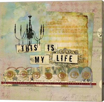 Metaverse Art My Life Gallery Wrapped Canvas Wall Art