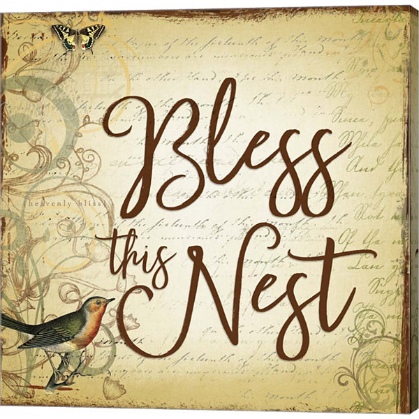 Metaverse Art Bless this Nest Scripty Gallery Wrapped Canvas Wall Art