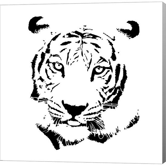 Metaverse Art Tiger Gallery Wrapped Canvas Wall Art