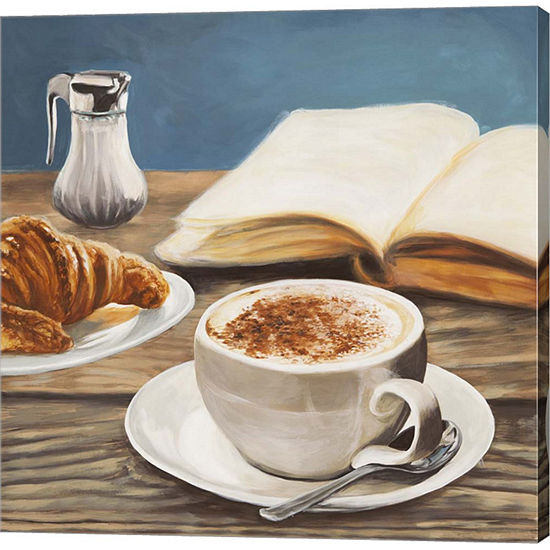 Metaverse Art Cappuccino Book Gallery Wrapped Canvas Wall Art