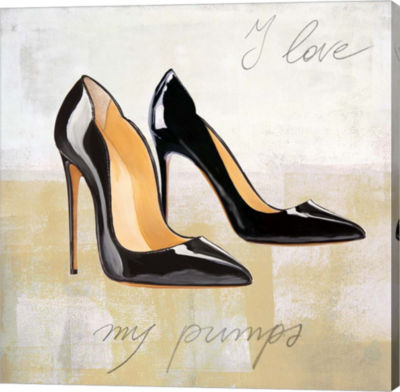 Metaverse Art I Love my Pumps Gallery Wrapped Canvas Wall Art