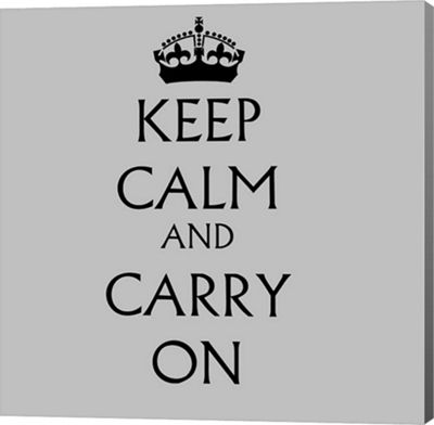 Metaverse Art Keep Calm & Carry On - White Gallery Wrapped Canvas Wall Art