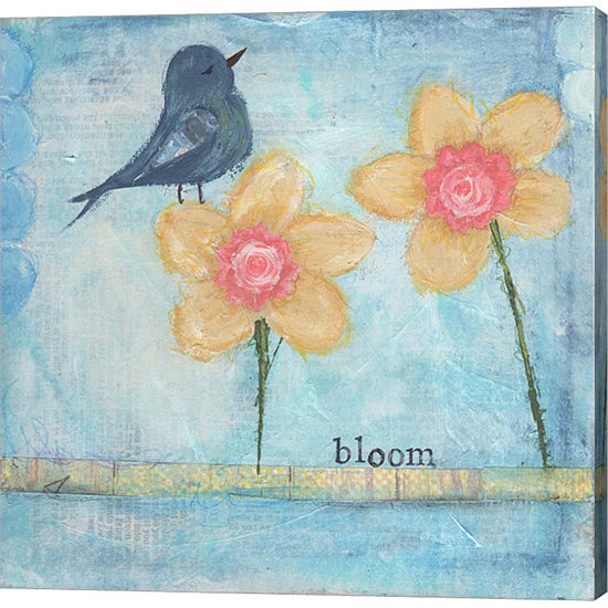 Metaverse Art Bloom Gallery Wrapped Canvas Wall Art