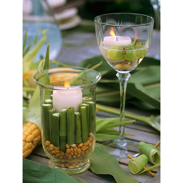 "LED Lighted Spring Bamboo Candle in Vase Canvas Wall Art 15.75"" x 11.75"""