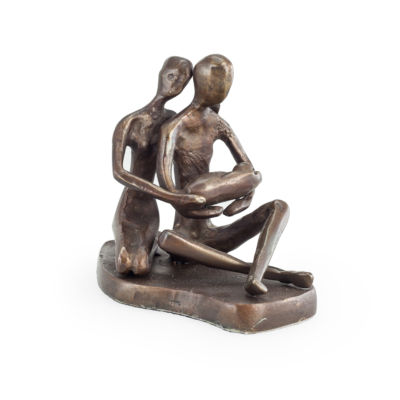 Danya B. Couple with Baby Bronze Sculpture