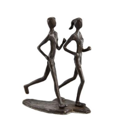 Danya B. Couple Jogging Bronze Sculpture