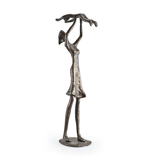 Danya B. Mother Holding Child Bronze Sculpture