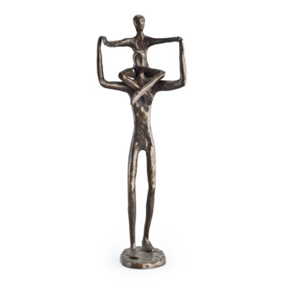 Danya B. Proud Father with Child Bronze Sculpture