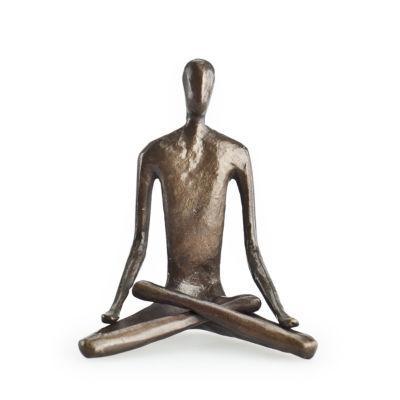 Danya B. Yoga Lotus Bonze Sculpture