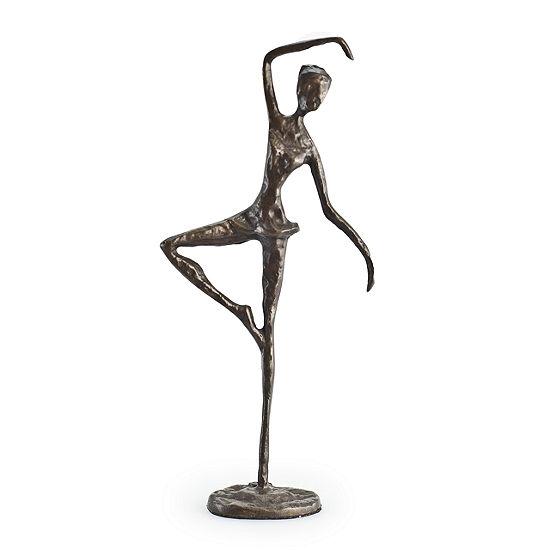 Danya B. Standing Ballerina Bronze Sculpture