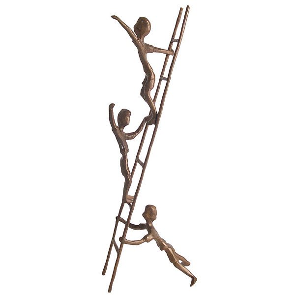 Danya B. Children on a Ladder Cast Bronze