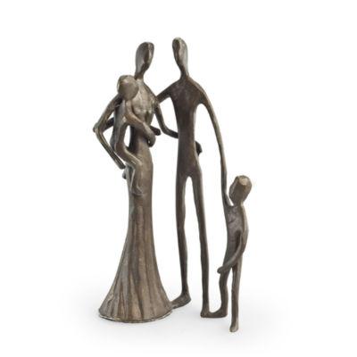 Danya B. Family of Four Cast Bronze Sculpture