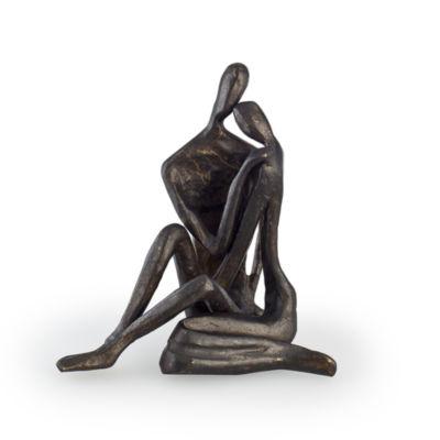 Danya B. Small Couple Embracing Cast Bronze