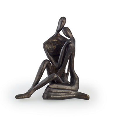 Danya B. Small Couple Embracing Cast Bronze
