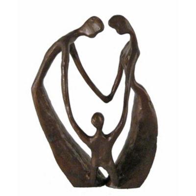 Danya B. Family of Three Cast Bronze